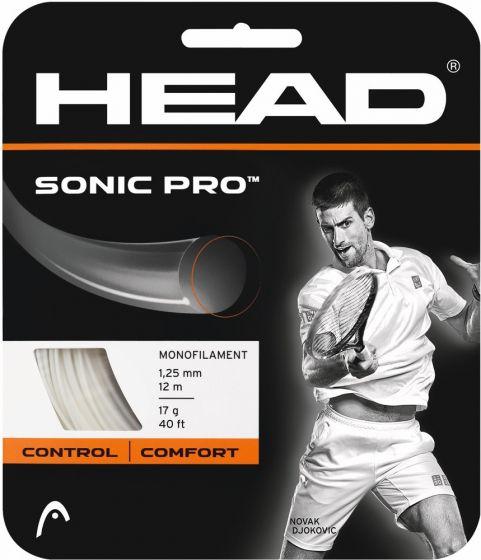 CORDAGE DE TENNIS HEAD SONIC PRO GARNITURE ISSUE DE BOBINE 12M BLANC