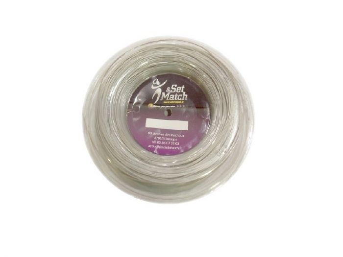 CORDAGE DE TENNIS SET ET MATCH POLY POWER GARNITURE ISSUE DE BOBINE 12M 1.30