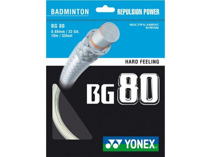 GARNITURE CORDAGE BADMINTON YONEX BG 80