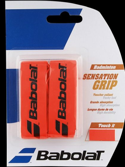 GRIP BABOLAT SENSATION BADMINTON 670064 201 FLUO RED