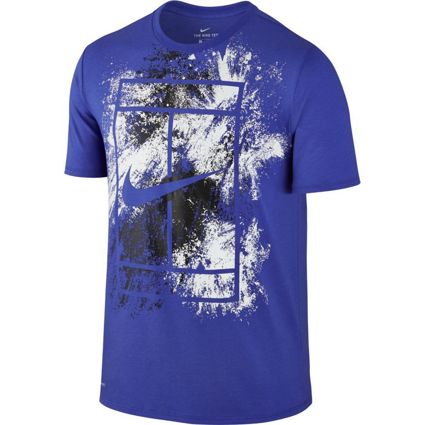 tee shirt tennis nike court bleu hommes