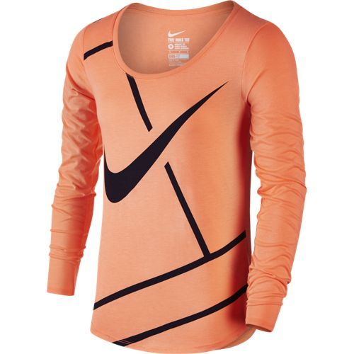 TEE SHIRT FEMME MANCHES LONGUES NIKE COURT PRACTICE TENNIS