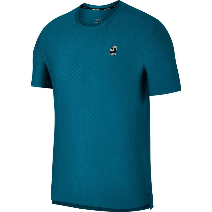 TEE SHIRT HOMME NIKE COURT TENNIS TOP 855279 301 BLEU Set