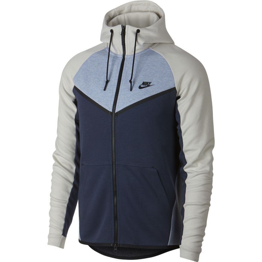 VESTE NIKE HOMME TECH FLEECE WINDRUNNER 885904 023 BLEU