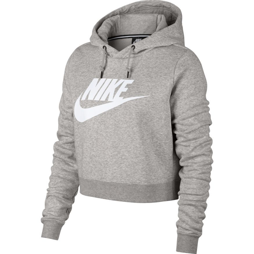 buy best catch first rate SWEAT A CAPUCHE FEMME NIKE RALLYE AQ9965 050 GRIS - Set & Match