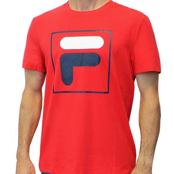 T Shirt de Tennis Fila Rouge Grand Logo