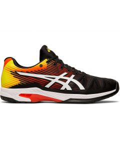 CHAUSSURES HOMME ASICS SOLUTION SPEED FF 1041A003 809 NOIR JAUNE ORANGE