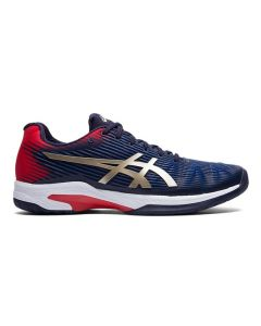 CHAUSSURES DE TENNIS HOMME ASICS SOLUTION SPEED FF 1041A003 403 BLEU-ROUGE