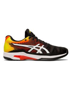 CHAUSSURES DE TENNIS HOMME ASICS SOLUTION SPEED FF 1041A003 809 NOIR/JAUNE/ORANGE