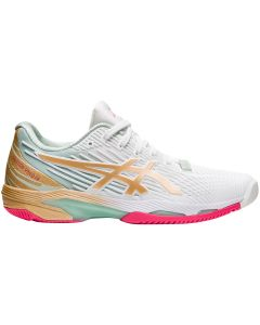 CHAUSSURES FEMME ASICS SOLUTION SPEED FF 2 L.E. 1042A142 100 BLANC CHAMPAGNE