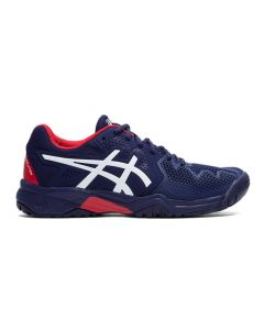 CHAUSSURE DE TENNIS JUNIOR ASICS GEL RESOLUTION 8 GS 1044A018 400 BLEU-ROUGE
