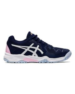 CHAUSSURE DE TENNIS JUNIOR ASICS GEL RESOLUTION 8 GS 1044A018 401 BLEU-ROSE