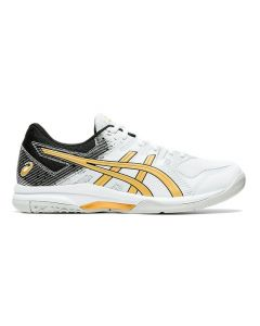 CHAUSSURES DE BADMINTON HOMME ASICS GEL ROCKET 9 1071A030 103 BLANC OR