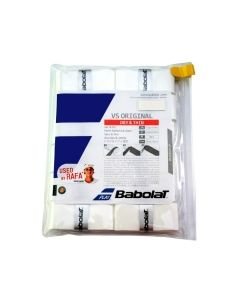 SURGRIP BABOLAT VS ORIGINAL 654010 101 BLANC LOT DE 12