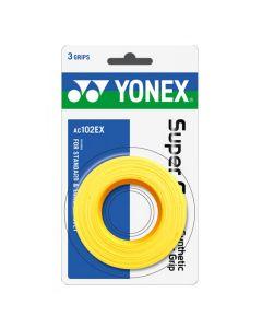 SURGRIP YONEX SUPER GRAP x3 AC102EX JAUNE