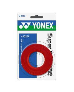 SURGRIP YONEX SUPER GRAP x3 AC102EX ROUGE