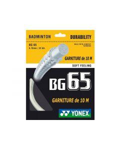 GARNITURE CORDAGE YONEX BG 65 ROUGE