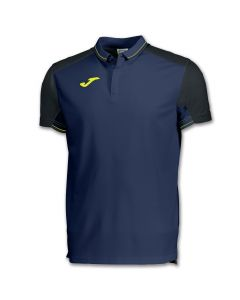 POLO JUNIOR JOMA GRANADA 100567 301 BLEU/NOIR