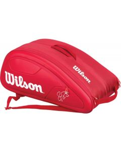 THERMOBAG WILSON FEDERER DNA 12 RAQUETTES WRZ830712  ROUGE