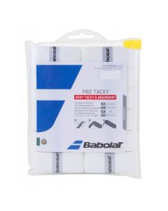 SURGRIP BABOLAT PRO TACKY 653039 101 BLANC LOT DE 12