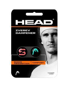 ANTIVIBRATEUR HEAD ZVEREV DAMPENER LOT DE 2 2285120 TURQUOISE/ROUGE