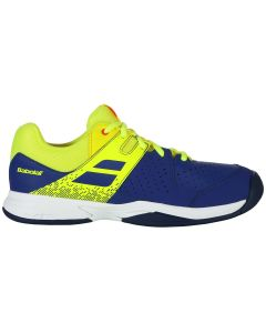 CHAUSSURES DE TENNIS JUNIOR BABOLAT PULSION ALL COURT 32S19482 BLEU/JAUNE