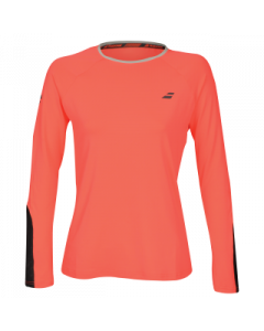 TEE SHIRT MANCHES LONGUES FEMME BABOLAT CORE 3WS18111 5015 ORANGE FLUO