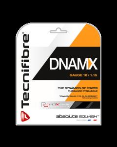 GARNITURE DE CORDAGE DE SQUASH TECHNIFIBRE DNAMX NOIR 12M