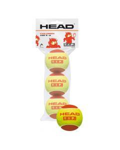 BALLE HEAD TIP RED SACHET DE 3 BALLES 578113