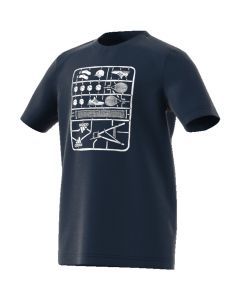 TEE SHIRT ADIDAS JUNIOR GRAPHIC TEE DV2971 BLEU