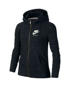 SWEAT NIKE FILLETTE GYM VINTAGE ZIPPE 728402 010 NOIR