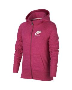 SWEAT NIKE FILLETTE GYM VINTAGE ZIPPE 728402 615 ROSE