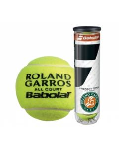 BALLE BABOLAT FRENCH OPEN ALL COURT ROLLAND GARROS TUBE DE 4 BALLES