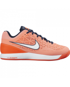 CHAUSSURES FEMME NIKE ZOOM CAGE 2 CLAY 776510 646 ORANGE/BLANC