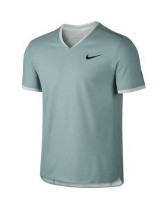 POLO HOMME NIKE COURT DRY RF 801710 046 VERT ELECTRIC