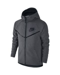 VESTE NIKE JUNIOR  A CAPUCHE TECH FLEECE 804730 092 GRIS