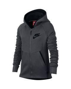 VESTE Girls' Nike Sportswear Tech Fleece Hoodie 859993 091 GRIS