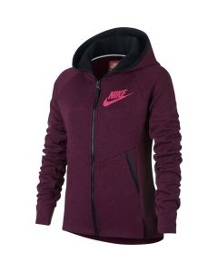 VESTE Girls' Nike Sportswear Tech Fleece Hoodie 859993 610 PARME