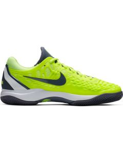 CHAUSSURES DE TENNIS HOMME NIKE ZOOM CAGE 3 RAFA NADAL CLAY  918192 701 JAUNE/GRIS