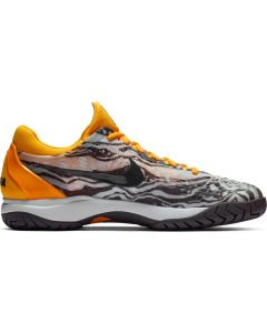 CHAUSSURES DE TENNIS JUNIOR NIKE AIR ZOOM CAGE 3 HC RAFA 918193 008 GRIS/ORANGE