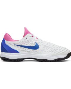 CHAUSSURES DE TENNIS HOMME NIKE AIR ZOOM CAGE 3 HC 918193 107 ROSE-BLEU-BLANCHE