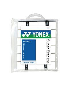 SURGRIPS YONEX SUPERGRAP AC102-12EC LOT DE 12 BLANC