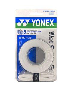 SURGRIP YONEX SUPER GRAP x3 + 1 AC102-4LTD BLANC