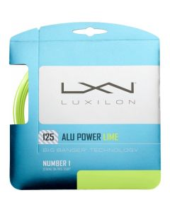 LUXILON BIG BANGER ALU POWER CORDAGE TENNIS GARNITURE 12M -1.25 CITRON
