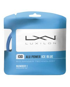 CORDAGE DE TENNIS LUXILON BIG BANGER ALU POWER ICE BLUE GARNITURE 12M