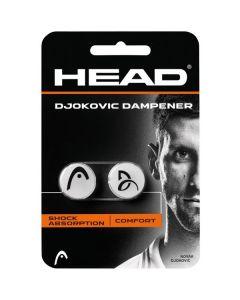 ANTIVIBRATEUR HEAD DJOKOVIC DAMPENER LOT DE 2 285704 BLANC/NOIR