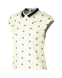 POLO FEMME NIKE COURT DRY FIT AO0368 133 BLANC CASSE