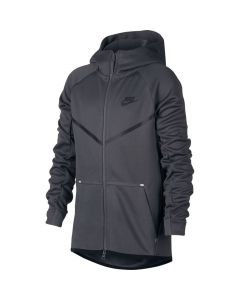 VESTE A CAPUCHE ZIPPEE JUNIOR NIKE TECH FLEECE AR4018 021 GRIS