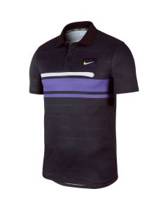 POLO HOMME NIKE COURT DRY AT4158 045 NOIR