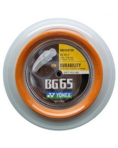 CORDAGE DE BADMINTON YONEX BG 65 ORANGE GARNITURE ISSUE DE BOBINE 10M
